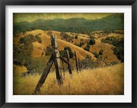 Framed Weathered Ranch Fence