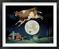 Framed Cow Jumps over the Moon