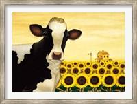 Framed Sunflower Cow