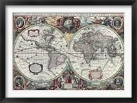 Framed Nova Totius Terrarum Orbis Tabula 2