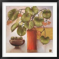Framed Passion Fruit and Vase