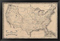 Framed American Posts & Forts, 1861