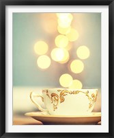 Framed Tea Cup in Cold Bokeh