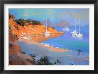 Framed Evening Boats