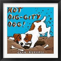 Framed Hot Dig-Gity Dog!