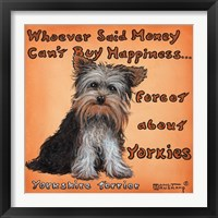 Framed Yorkies = Happiness