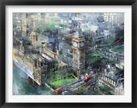 Framed London Green - Big Ben