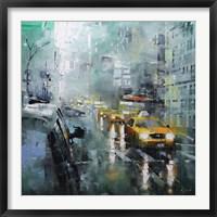Framed New York Rain