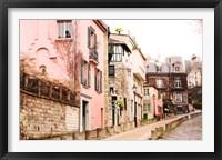Framed Montmartre Street, Rue de l'Abreuvoir