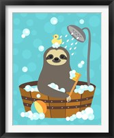 Framed Bathing Sloth