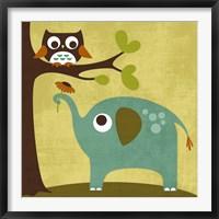 Framed Owl and Elephant
