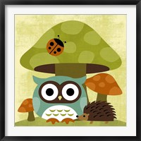 Framed Owl and Hedgehog