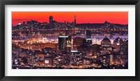 Framed Oakland SF Twilight