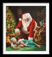 Framed Cookies for Santa