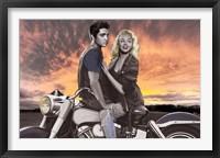 Framed Sunset Ride