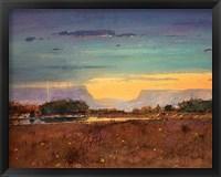 Framed Lightning at Sunset