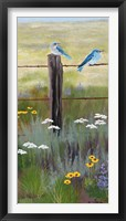 Framed Mountain Blue Birds