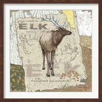 Framed Elk Walk