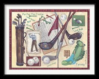 Framed Golf Clubs I