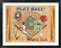 Framed Play Ball