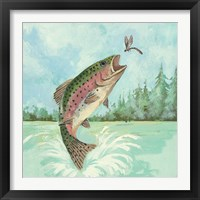 Framed Trout Jumping