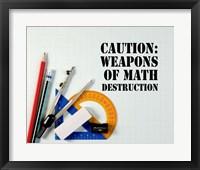Framed Caution: Weapons of Math Destruction - Color