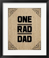 Framed One Rad Dad - Brown Cardboard