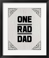 Framed One Rad Dad - White Cardboard