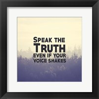 Framed Speak The Truth - Yellow