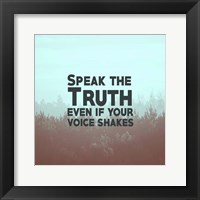 Framed Speak The Truth - Blue