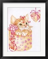 Framed Kitten Heart