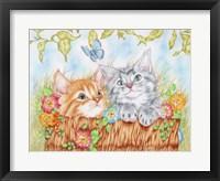 Framed Watching Kittens