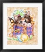 Framed Christmas Box Kitten