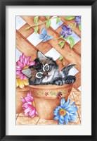 Framed Trellis Kitty