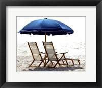 Framed Beach Life on White I