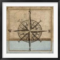 Framed Compass Rose I