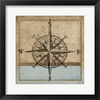 Framed Compass Rose I