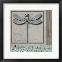 Framed Dragonfly Blue
