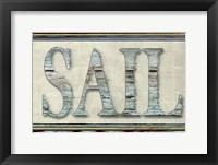 Framed Sail word