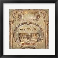 Framed Chateau Ed'verette