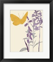 Framed Butterfly and Flowers