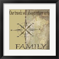 Framed Travels lead back to Family