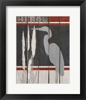 Framed Heron