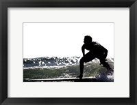 Framed Surfing Silhouette I