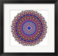 Framed Coral Reef Mandala