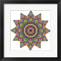 Framed Sparkling Sunny Day Mandala