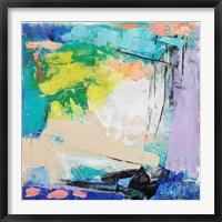 Framed Violet Vigor I