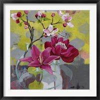 Framed Apple Blossom Trio