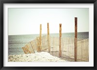 Framed Wooden Beach Fence