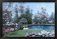 Framed Lakeside Gazebo